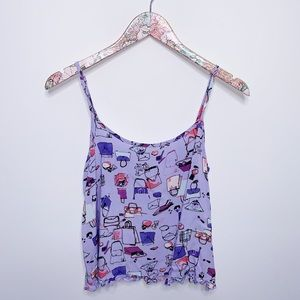 BP Undercover Purple Cosmic Purses Frilly Cami